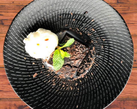 Chocolate Brownie w Chilli Syrup